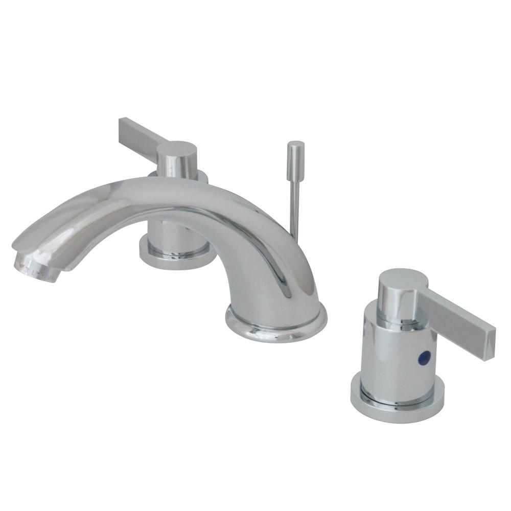 Kingston Chrome NuvoFusion C Spout Widespread bathroom Faucet w/Pop-Up KB8961NDL