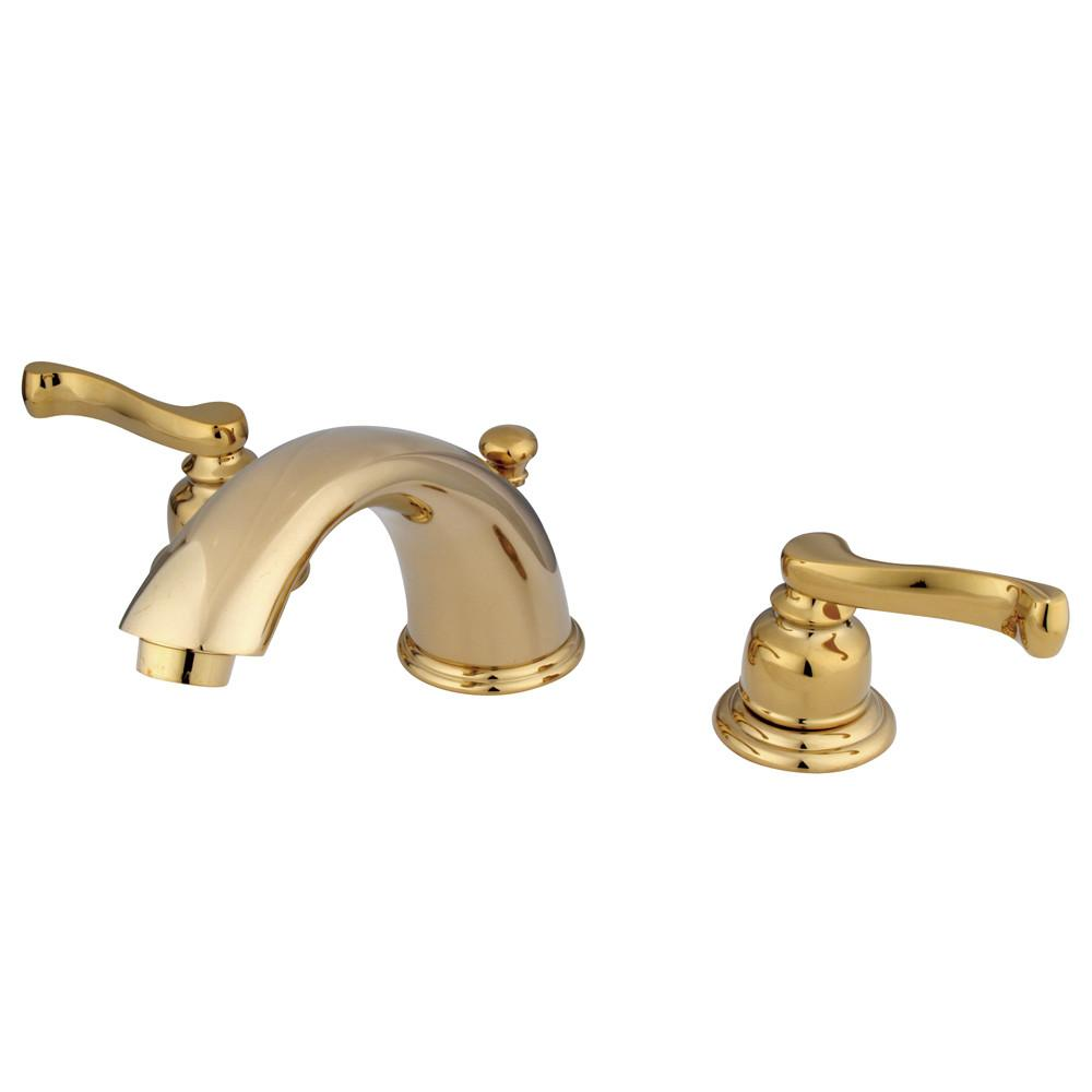 Kingston Brass Polished Brass Widespread Bathroom Faucet w Pop-up KB8962FL