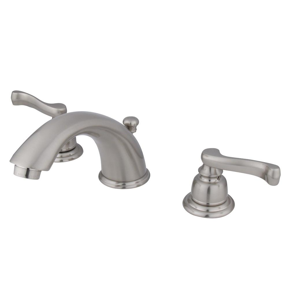 Kingston Satin Nickel 2 Handle Widespread Bathroom Faucet w Pop-up KB8968FL