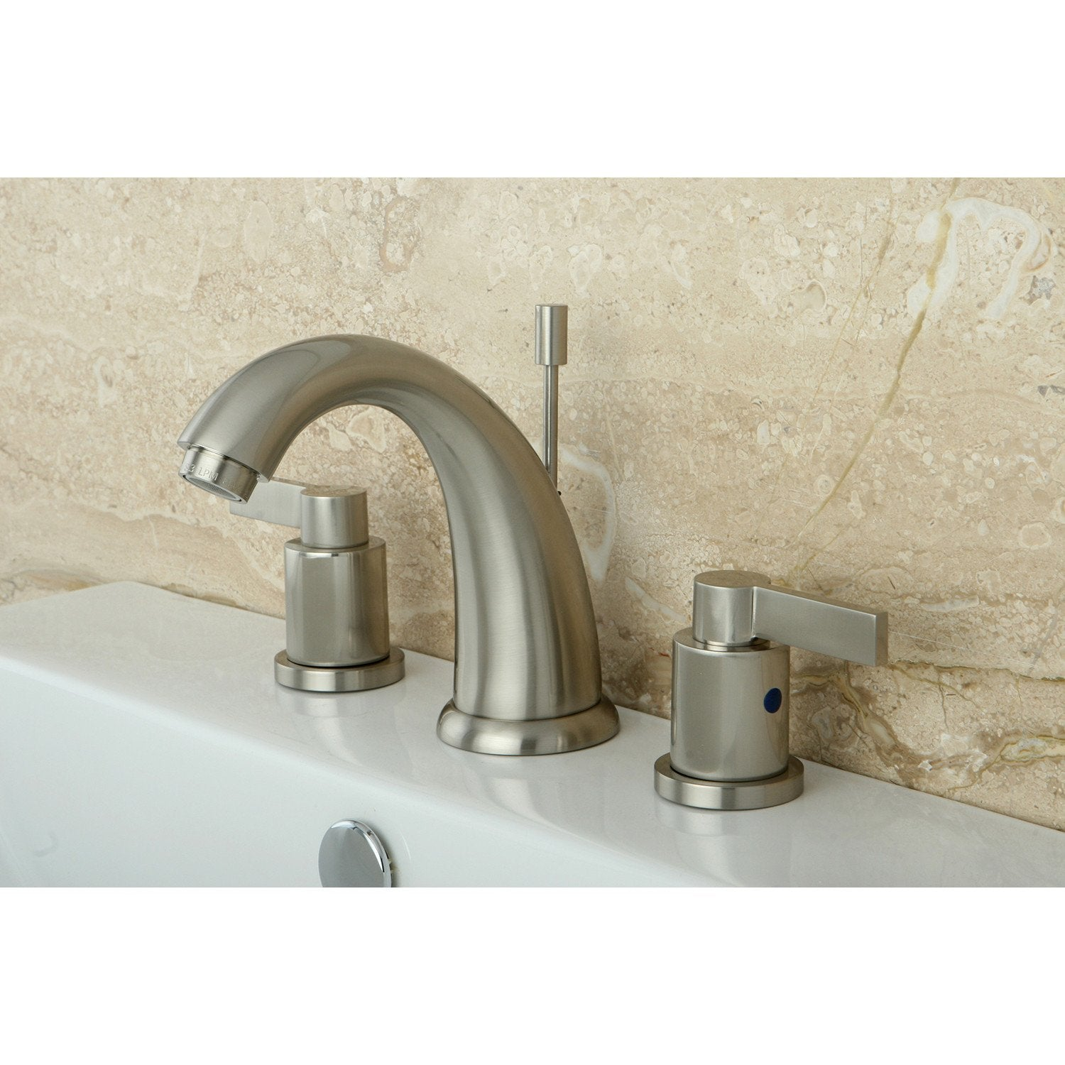 Satin Nickel NuvoFusion Widespread bathroom Faucet w/ Drain KB8988NDL