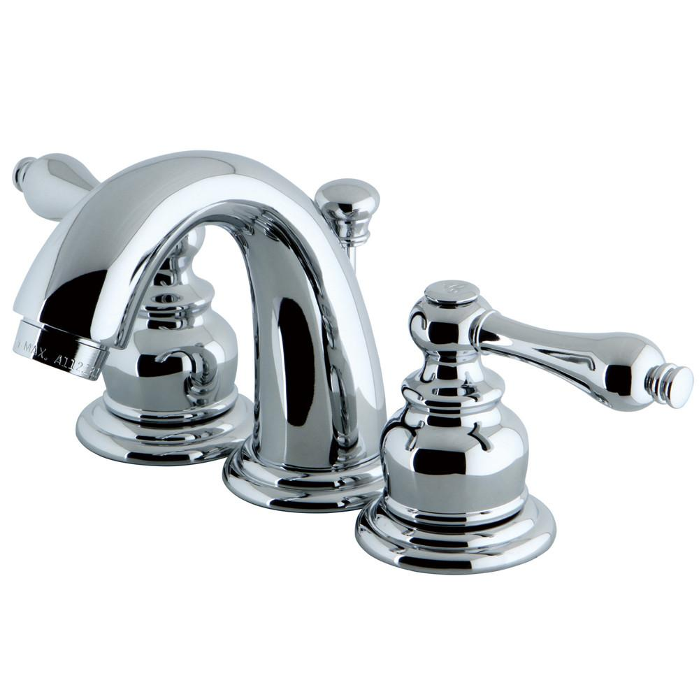 "Kingston Chrome 2 Handle 4"" to 8"" Mini Widespread Bathroom Faucet KB911AL"