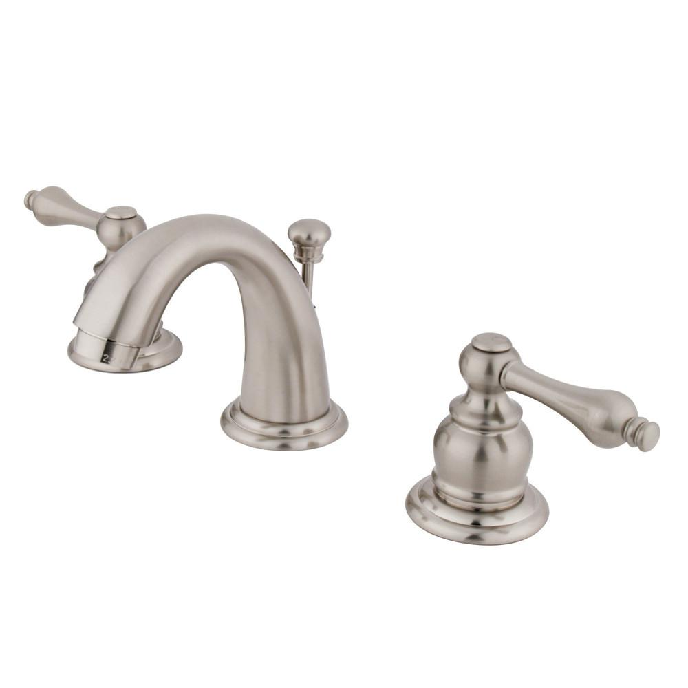 "Kingston Brass Satin Nickel 4"" to 8"" Mini Widespread Bathroom Faucet KB918AL"