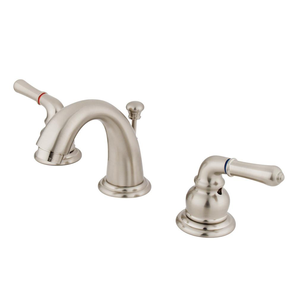 Kingston Brass Satin Nickel Magellan 2 handle widespread bathroom faucet KB918