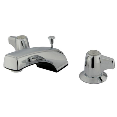 Kingston Brass Chrome 2 Handle Widespread Bathroom Faucet w Pop-up KB920B