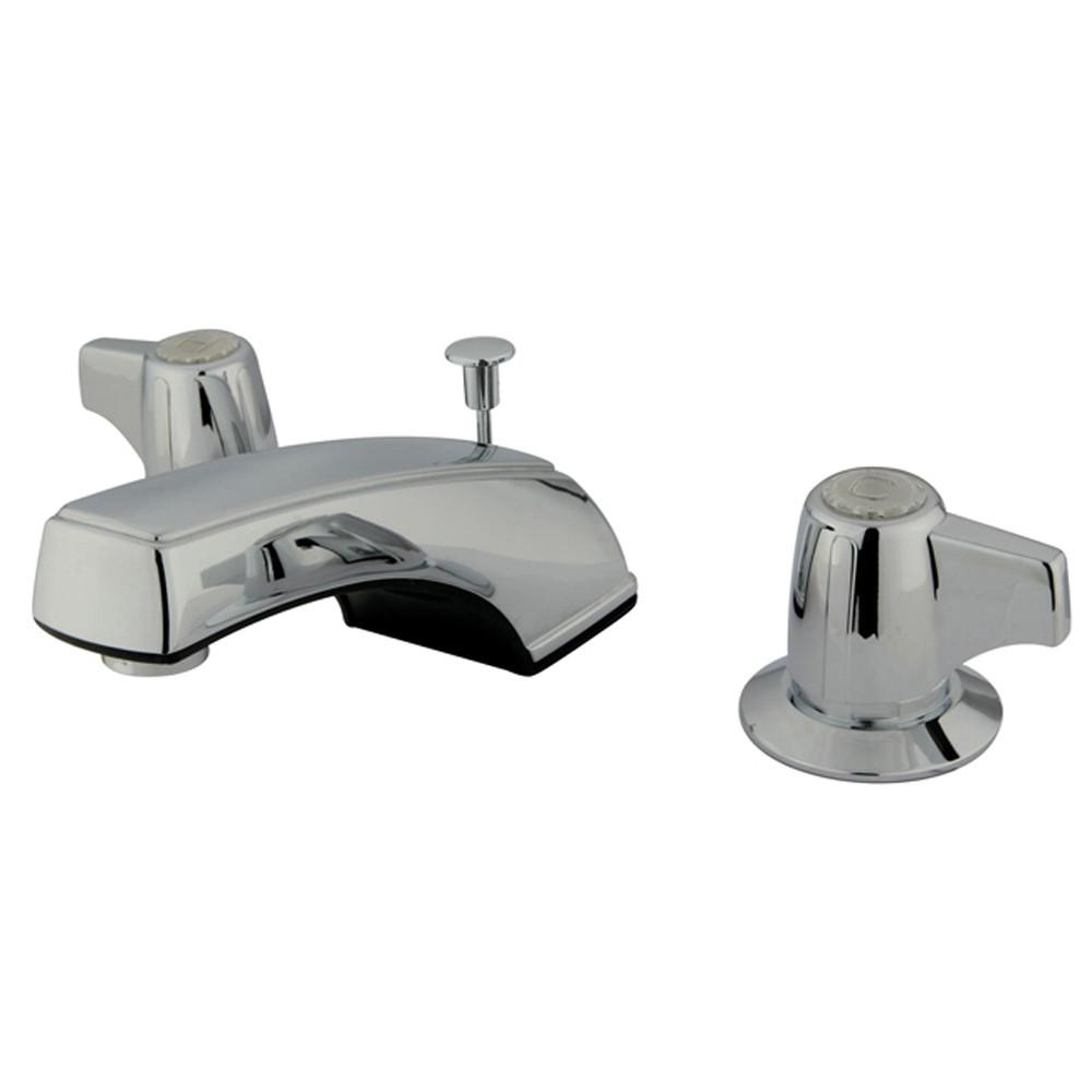 Kingston Brass Chrome 2 Handle Widespread Bathroom Faucet with Pop-up KB920