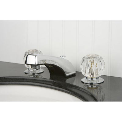Kingston Brass Chrome 2 Handle Widespread Bathroom Faucet w Pop-up KB921B