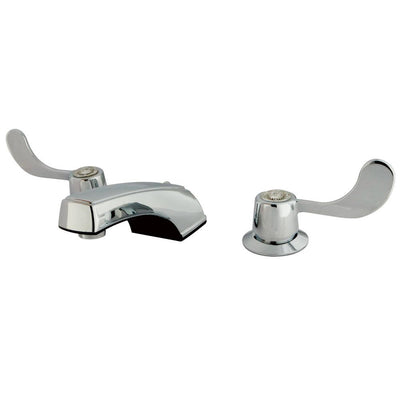 Kingston Brass Chrome 2 Handle Widespread Bathroom Faucet w Grid Strainer KB931G
