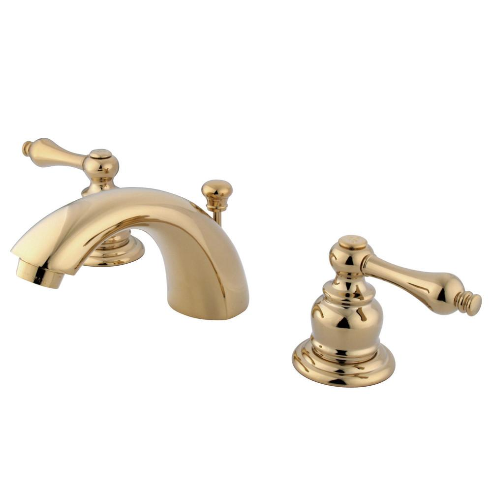 "Kingston Polished Brass 4""-8"" Mini Widespread Bathroom Faucet w Pop-up KB942AL"