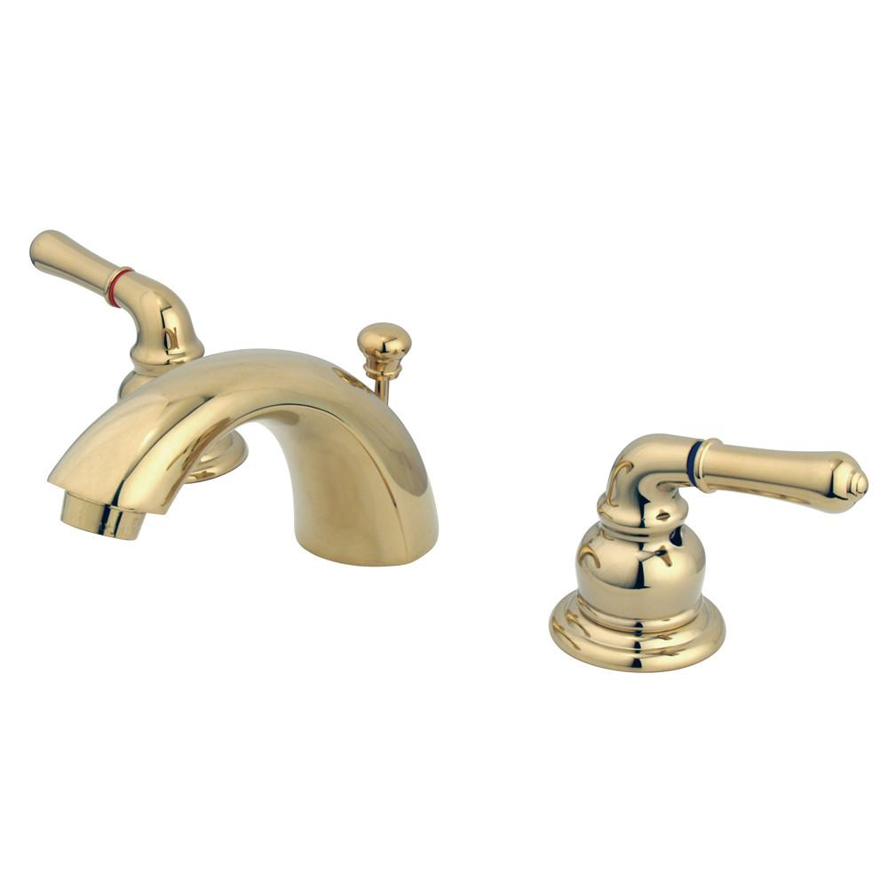 "Kingston Polished Brass 4""-8"" Mini Widespread Bathroom Faucet w Pop-up KB952"