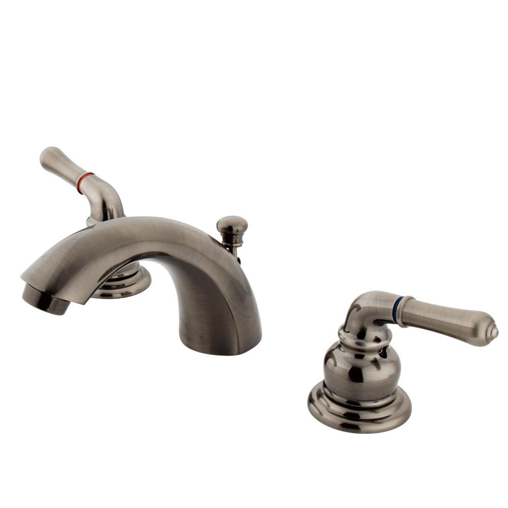 "Kingston Vintage Nickel 4""-8"" Mini Widespread Bathroom Faucet w Pop-up KB953"