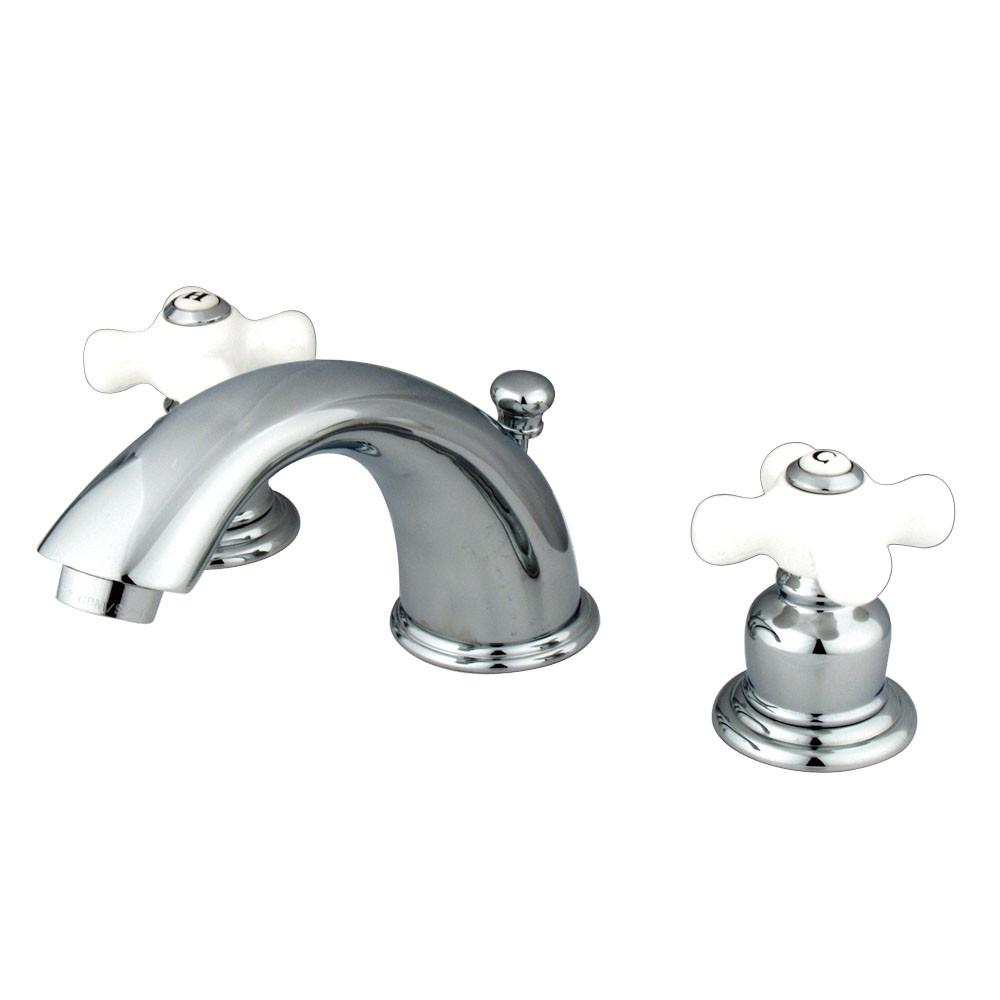 "Kingston Chrome 2 Handle 8"" to 16"" Widespread Bathroom Faucet KB961PX"