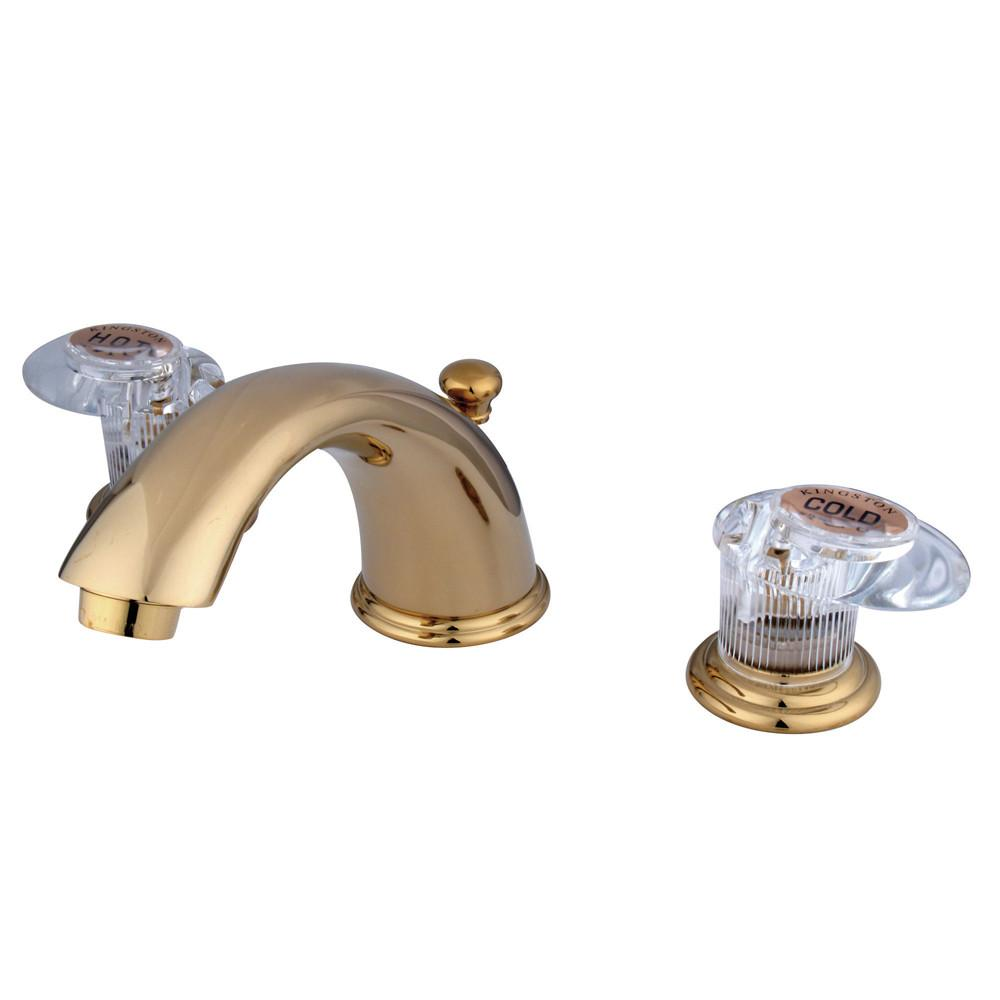 "Kingston Polished Brass 8""-16"" Widespread Bathroom Faucet w Pop-up KB962ALL"