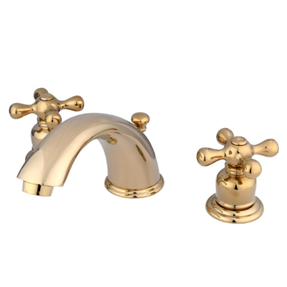 "Kingston Polished Brass 8""-16"" Widespread Bathroom Faucet w Pop-up KB962AX"