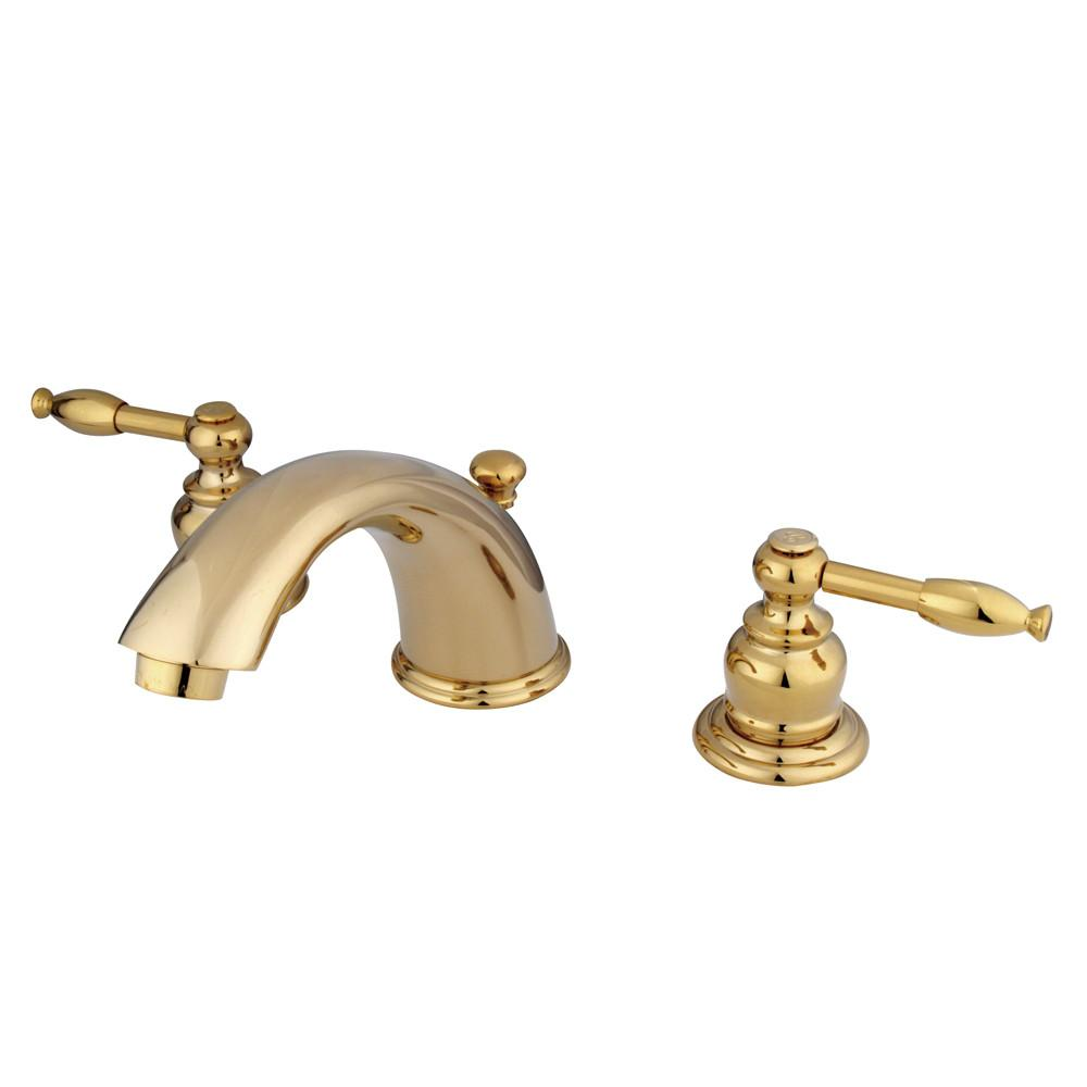 "Kingston Polished Brass 8""-16"" Widespread Bathroom Faucet w Pop-up KB962KL"