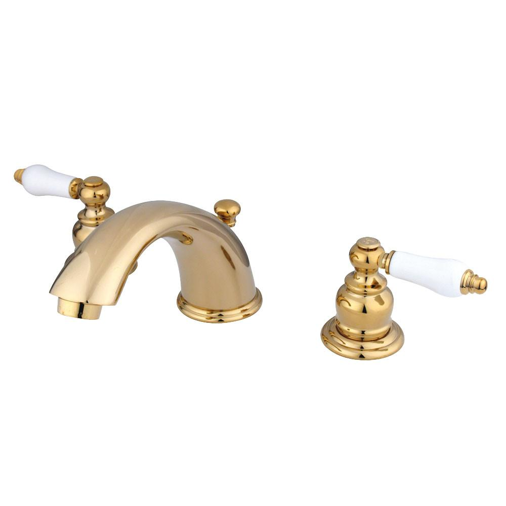 "Kingston Polished Brass 8""-16"" Widespread Bathroom Faucet w Pop-up KB962PL"