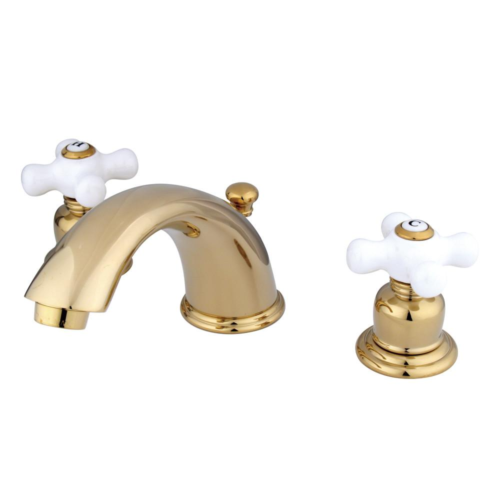 "Kingston Polished Brass 8""-16"" Widespread Bathroom Faucet w Pop-up KB962PX"