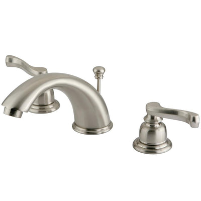 "Kingston Satin Nickel 8""-16"" Widespread Bathroom Faucet w Pop-up KB968FL"