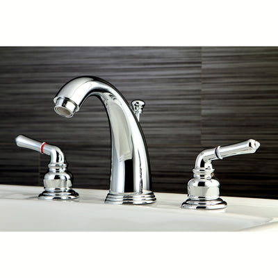 Kingston Brass Chrome Magellan 2 handle widespread bathroom faucet KB981