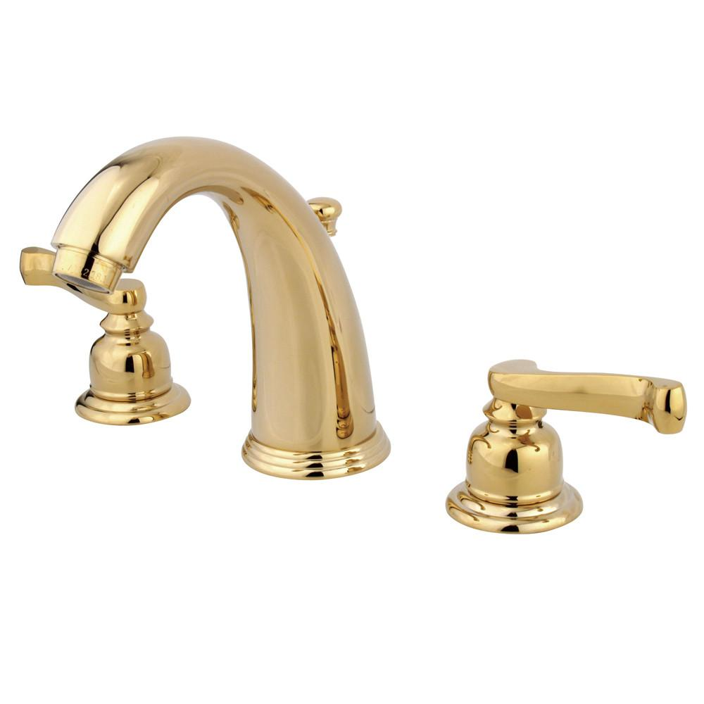 Kingston Polished Brass 2 Handle Widespread Bathroom Faucet w Pop-up KB982FL