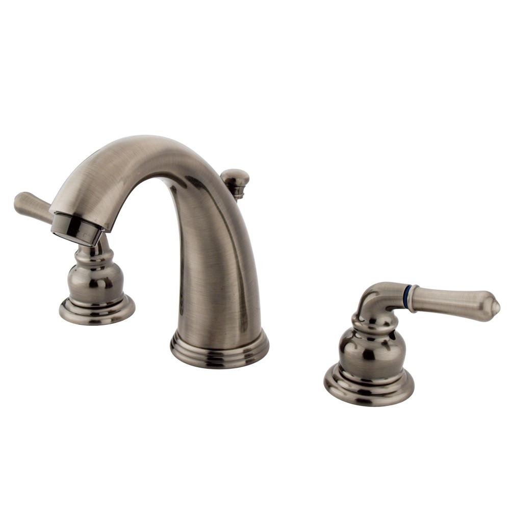 Kingston Brass Vintage Nickel Magellan 2 handle widespread bathroom faucet KB983