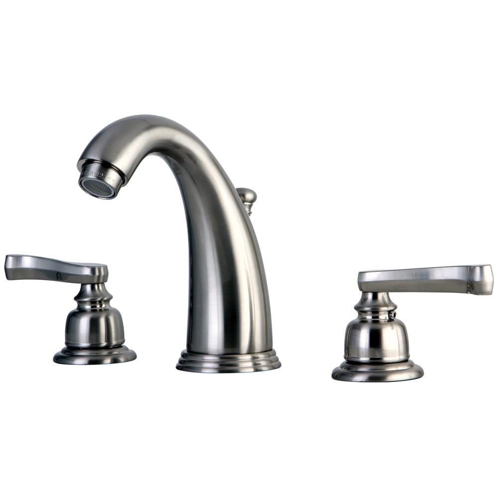 Kingston Brass Satin Nickel 2 Handle Widespread Bathroom Faucet w Pop-up KB988FL