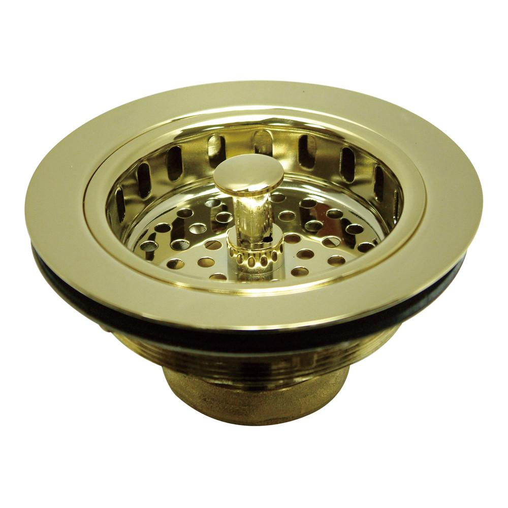 Kingston Polished Brass Made to Match Cast Heavy Duty Basket Strainer KBS1002