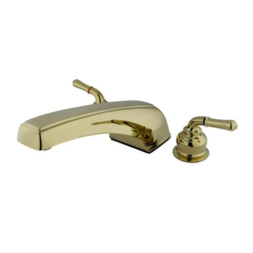 Kingston Brass Polished Brass Magellan roman tub filler faucet KC382