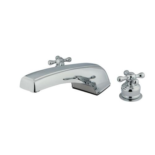 Kingston Brass Chrome Magellan Two Handle Roman Tub Filler Faucet KC391