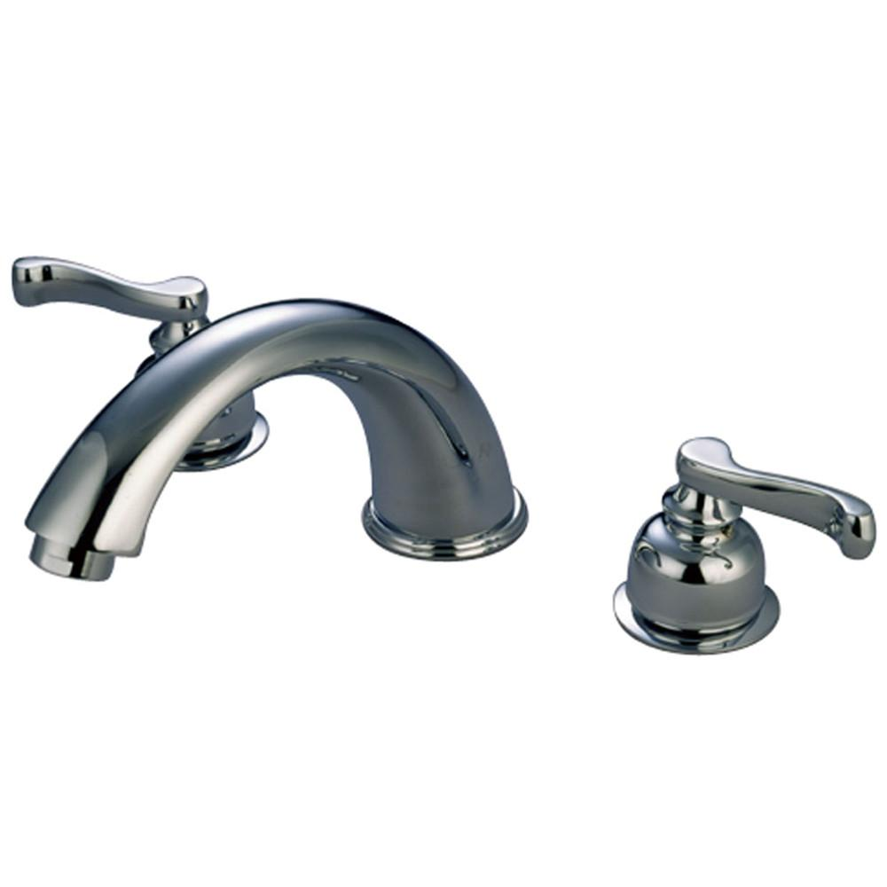 Kingston Brass Chrome Royale Two Handle Roman Tub Filler Faucet KC8361