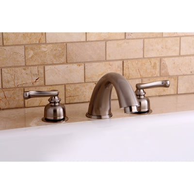 Kingston Brass Satin Nickel Two Handle Roman Tub Filler Faucet KC8368