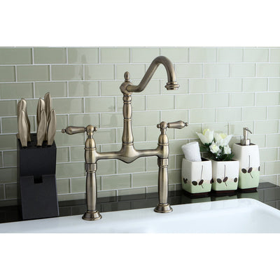 Kingston Brass Vintage Brass 2 Handle Vessel Sink Bathroom Faucet KS1073AL