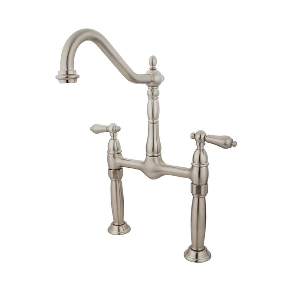 Kingston Brass Satin Nickel Two Handle Vessel Sink Faucet KS1078AL