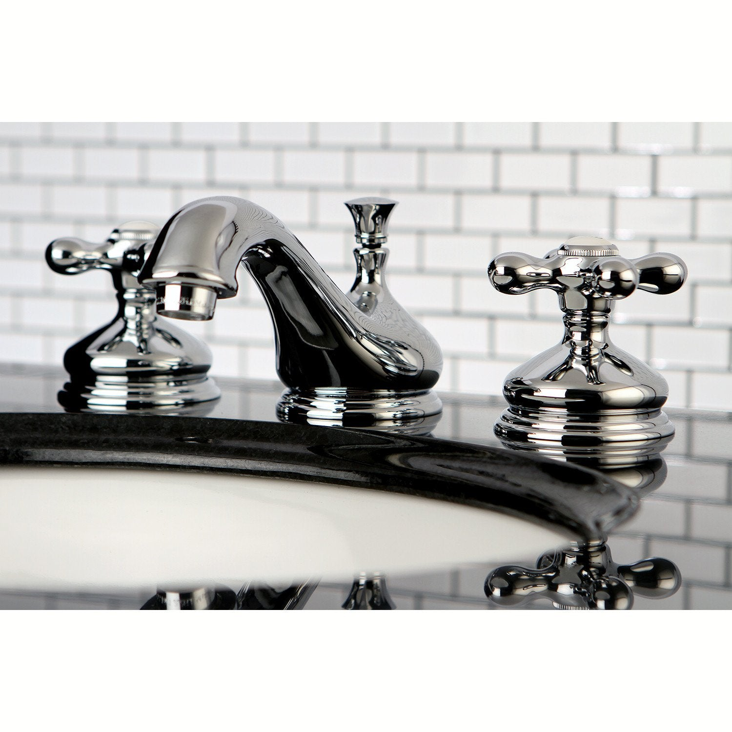 Kingston Brass Chrome 2 Handle Widespread Bathroom Faucet w Pop-up ...