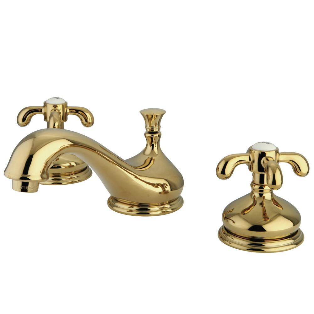Kingston Brass Polished Brass French Country Widespread Bathroom Faucet KS1162TX