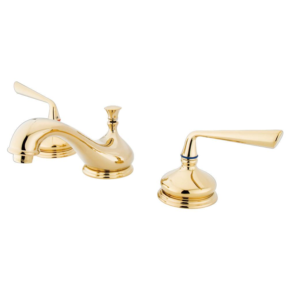 Kingston Silver Sage Polished Brass Widespread Lavatory Bathroom Faucet KS1162ZL