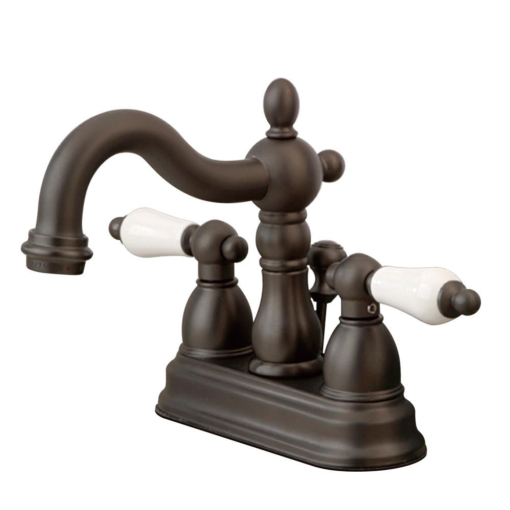 "Kingston Oil Rubbed Bronze 2 Handle 4"" Centerset Bathroom Faucet KS1605PL"