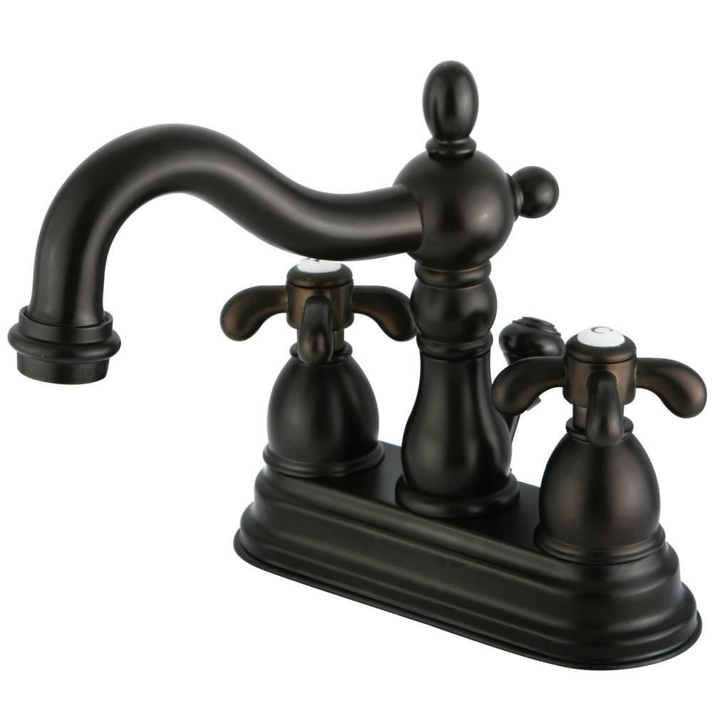 "Kingston Oil Rubbed Bronze French Country 4"" Center Set Bathroom Faucet KS1605TX"