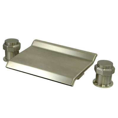 Kingston Brass Satin Nickel Waterfall Roman Tub Filler Faucet KS2248AR
