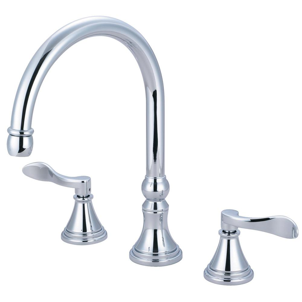 Kingston Brass Chrome NuFrench bathroom roman tub filler faucet KS2341DFL