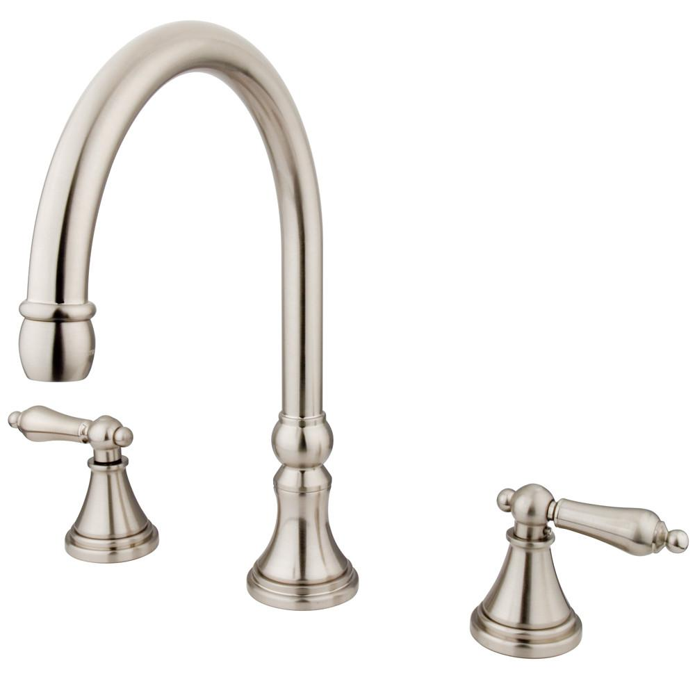 Kingston Brass Satin Nickel Two Handle Roman Tub Filler Faucet KS2348AL