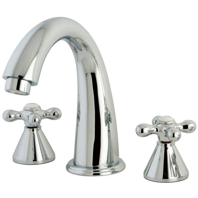 Kingston Brass Chrome Naples Two Handle Roman Tub Filler Faucet KS2361AX
