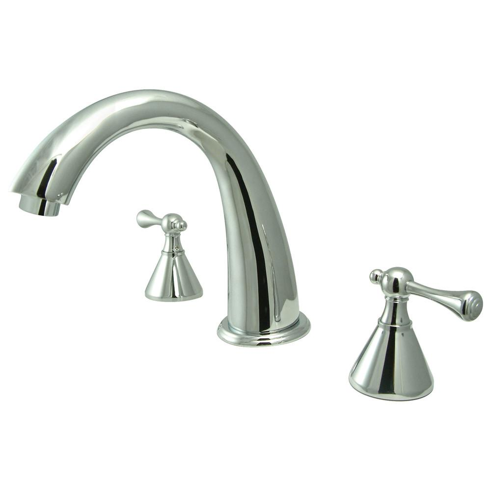 Kingston English Country Chrome Roman Tub Filler Faucet KS2361BL
