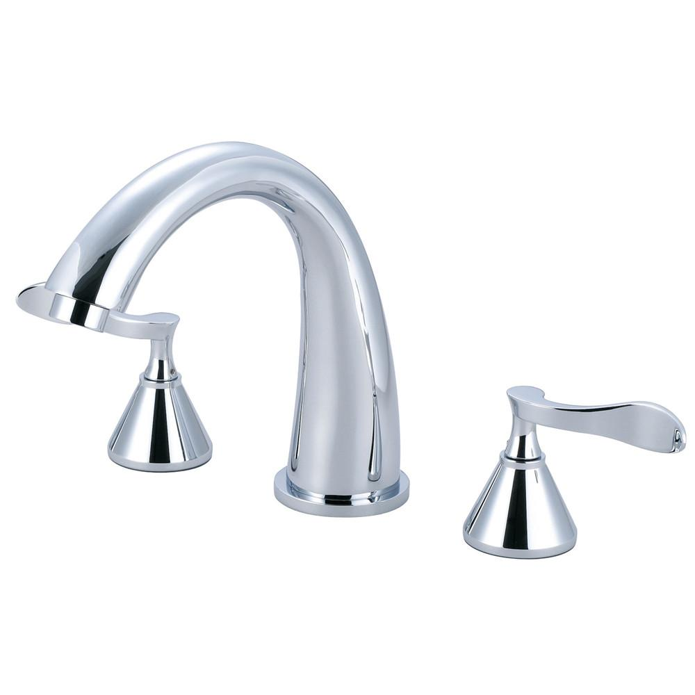Kingston Brass Century Polished Chrome Roman tub filler Faucet KS2361CFL
