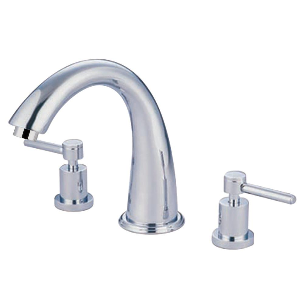 Kingston Brass Concord Chrome Two Handle Roman tub filler faucet KS2361DL