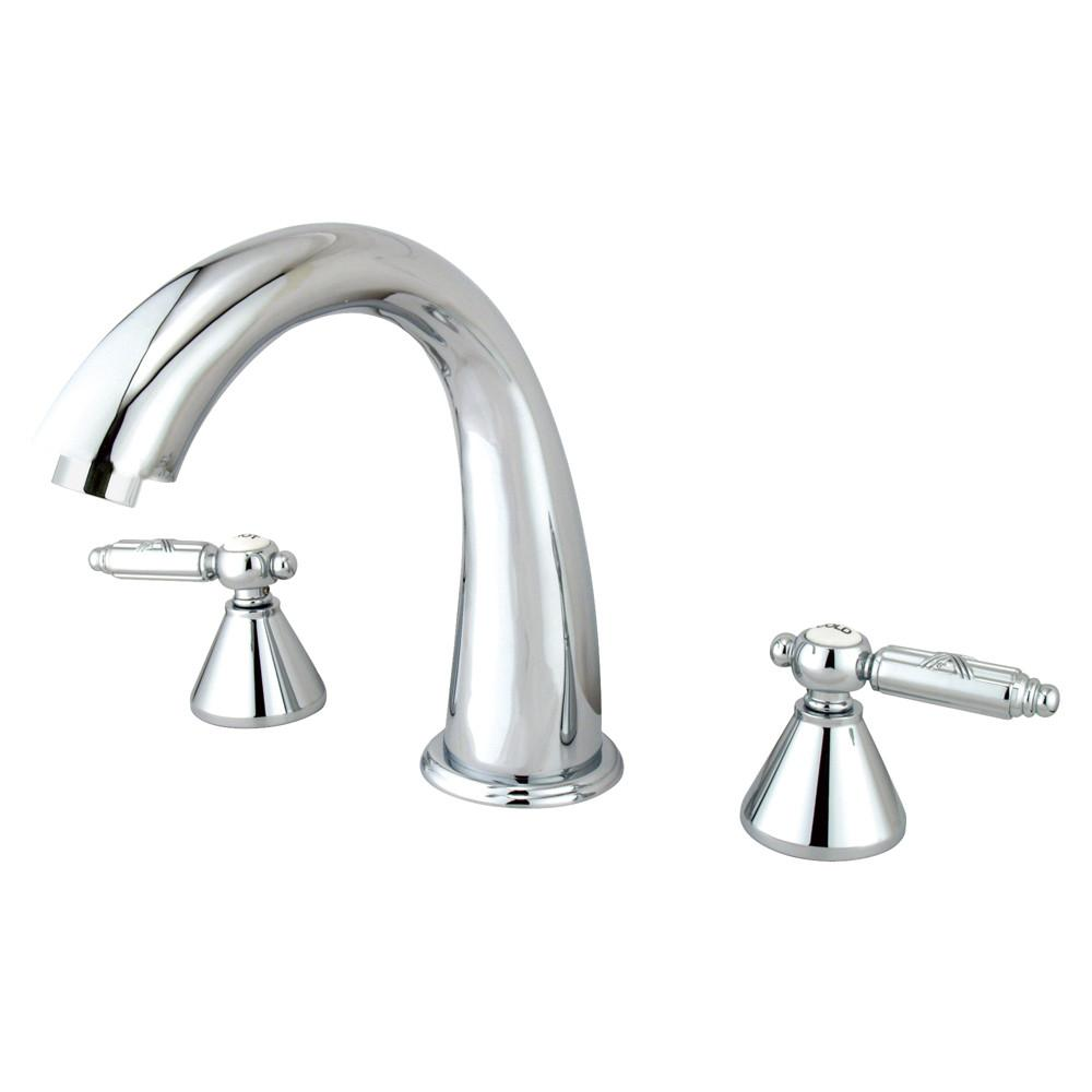 Kingston Brass Chrome Two Handle Roman Tub Filler Faucet KS2361GL