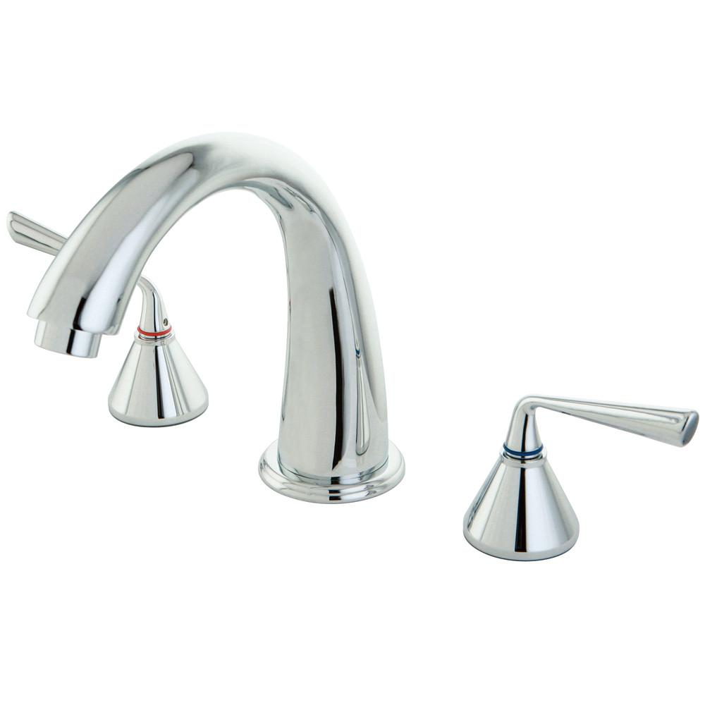 Kingston Brass Silver Sage Chrome Bathroom Roman Tub Filler Faucet KS2361ZL
