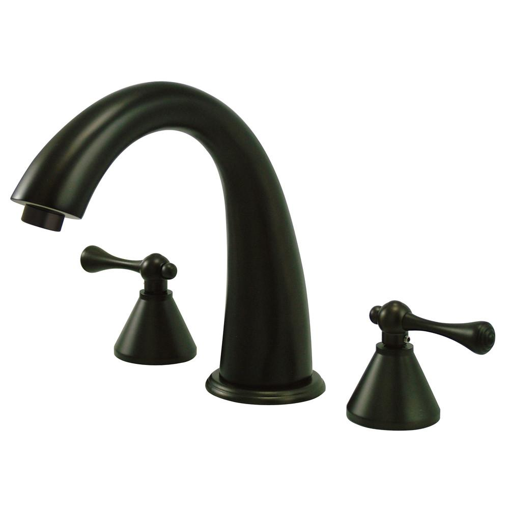 Kingston English Country Oil Rubbed Bronze Roman Tub Filler Faucet KS2365BL