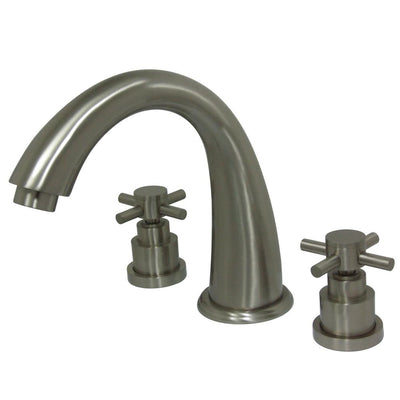 Kingston Brass Satin Nickel Two Handle Roman Tub Filler Faucet KS2368EX