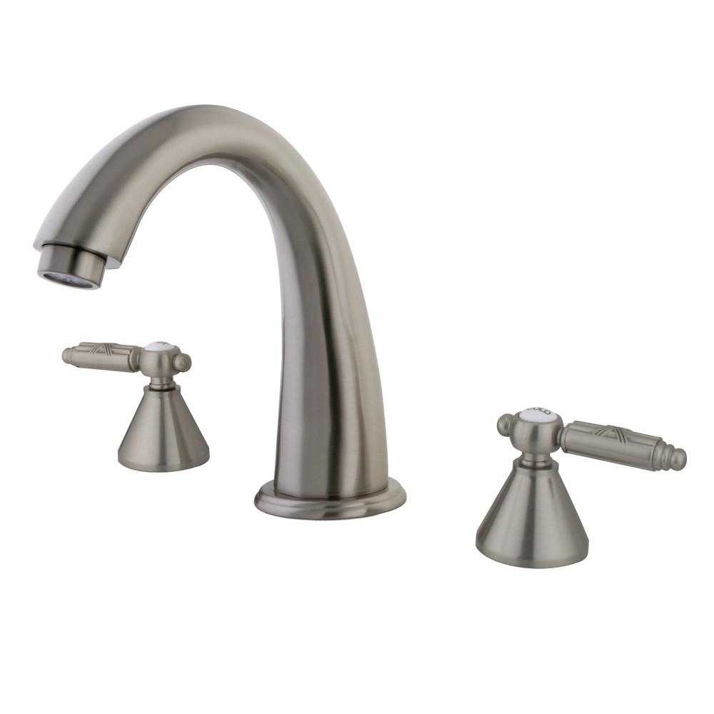 Kingston Brass Satin Nickel Two Handle Roman Tub Filler Faucet KS2368GL
