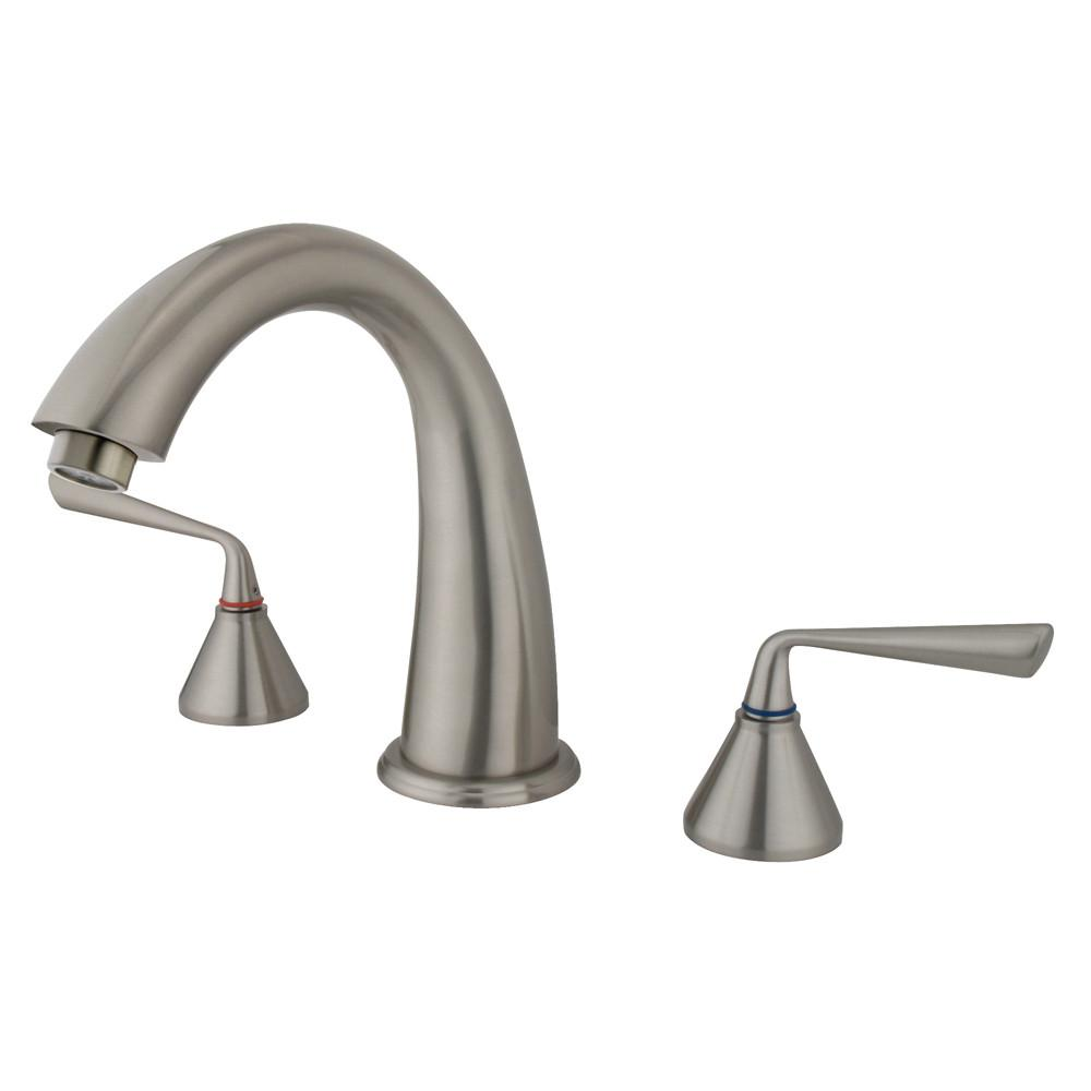Kingston Silver Sage Satin Nickel Bathroom Roman Tub Filler Faucet KS2368ZL